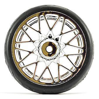Fastrax 1/10 Street / Tread Dæk Star Spoke Chrome Wheel