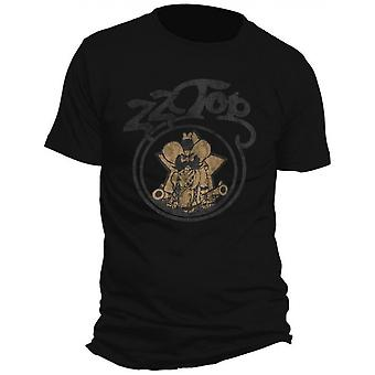 ZZ Top - Outlaw Village Men's Small T-Shirt - Black