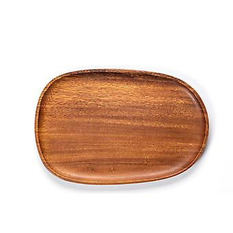 Round Wood Plates, Easy Cleaning & Lightweight For Dishes Snack, Dessert