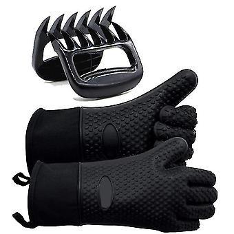 Grill handsker varmebestandige handsker Bbq Køkken Silikone Ovn Luffer Lang Vandtæt