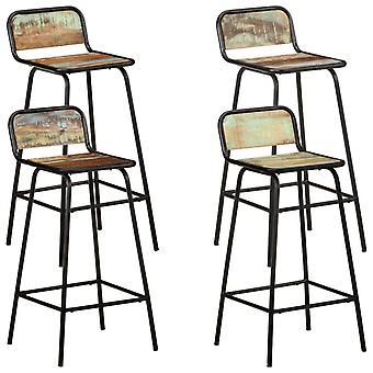 vidaXL chaises de bar 4 pcs massif de bois usagé