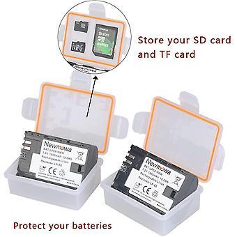 6pcs Batteriespeicher Fall / Halter für Canon LP-E6 Nikon EN-EL15 Panasonic DMW-BLF19