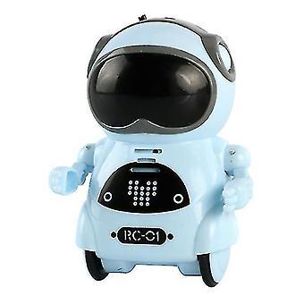 Barnas mini smart stemme dialog danselomme robot (blå)