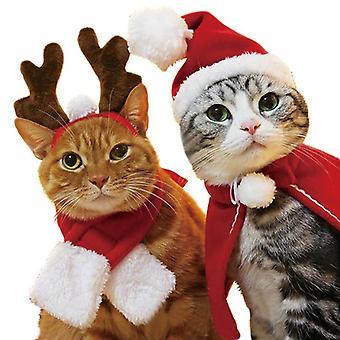 Animal de compagnie chien chat vêtements costume halloween chat chapeau écharpe costume manteau habiller nouvel an animal costume manteau vêtements de Noël mascotas