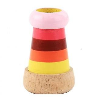 Colorful Striped Multi Prism Kaleidoscope Toy,wooden Simulation Telescope Educational Props