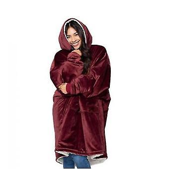 Donne ispessito doppio lato Lazy Clothes (Rosso)