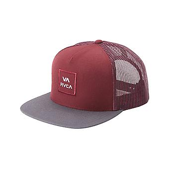 RVCA VA All The Way Cap in Oxblood Red
