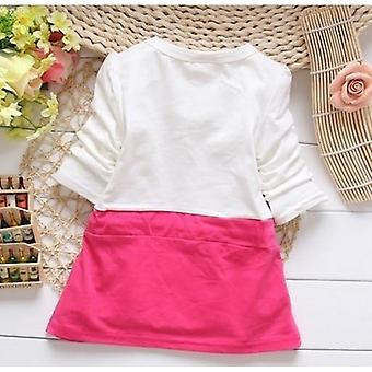 2021 New Hot Fashion Cute Minnie Stitching Dress Pure Cotton Long Sleeve Female