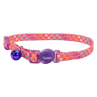 """Coastal Pet Safe Cat Breakaway Collar Multi Heart - 12""""L x 3/8""""W"""