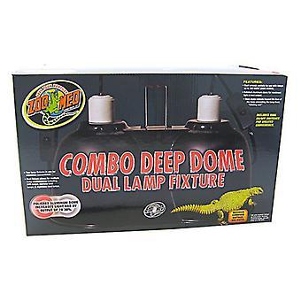 Zoo Med Combo Deep Dome Dual Lamp Fixture - Upp till 300 watt kombinerat
