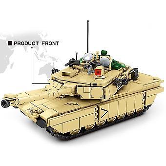 טנק צבאי אבני בניין WW2 חייל מודל רכב נשק לבנים צעצועים חינוכיים