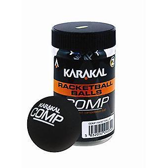 كاراكال المنافسة الكرة الأسود الاسكواش المحكمة المطاط Racketball الحوض - حزمة من 2