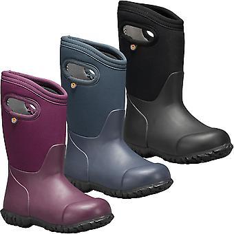 Bogs Kids York Solid Outdoor Insulated Waterproof Wellington Boots Wellies