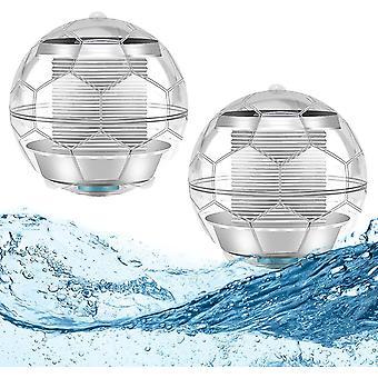 Dekorative Outdoor-Solarlampe, 7 Bunte wechselnde Led Solar Ball Lampe WasserdichtEs Schwimmbad Schwimmende Lampe Party Dekoration 2pcs