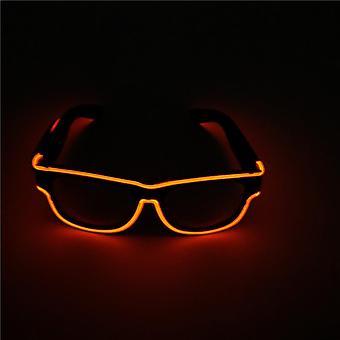 Led ladattavat lasit 10 väriä Wire Neon Party Valoisat lasit valaisevat silmälasit Dj Dance Partylle
