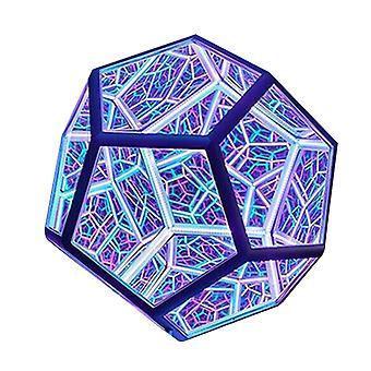 Ääretön Dodecahedron Väri Taide Valo Usb Charging Koristelamppu Koti Työpöydän sisustus
