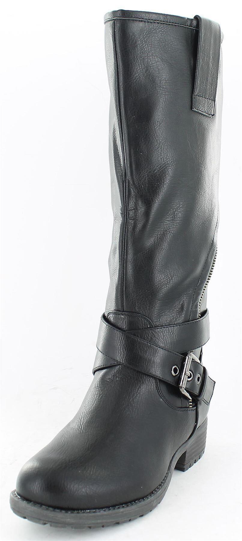 Miejscu panie na asymetryczne Zip Biker stylu buty czarny rozmiar 8 aLVEu