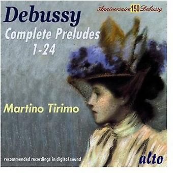 Martino Tirimo - Debussy: Complete Preludes [CD] USA import