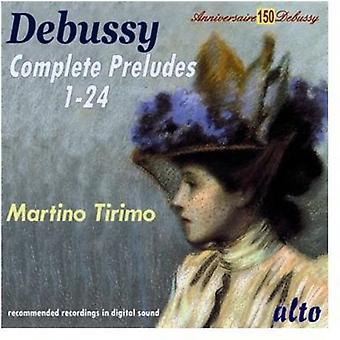 Martino Tirimo - Debussy: Importación preludios completa [CD] Estados Unidos