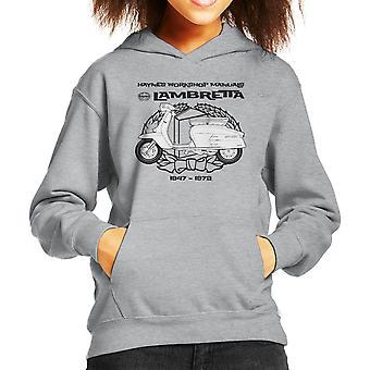 Camiseta de encapuchados Haynes propietarios taller Manual Lambretta 3 Kid