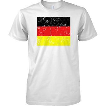 Alemania agobiados Grunge efecto bandera diseño - niños T Shirt