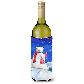 Polar Bear with Hot Water Bottle Wine Bottle Beverage Insulator Hugger