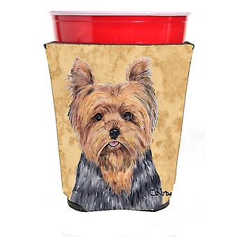 Carolines Treasures  SC9123RSC Yorkie Red Solo Cup Beverage Insulator Hugger