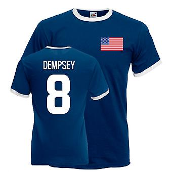 Clint Dempsey Usa Ringer Tee (laivasto)