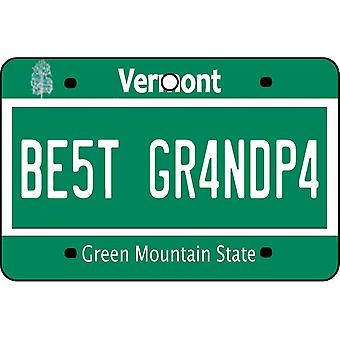 Vermont - Best Grandpa License Plate Car Air Freshener