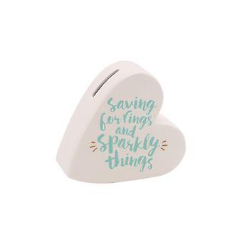 Articles cadeaux CGB Oh si jolie épargne-anneaux et brillant choses céramique coeur argent banque