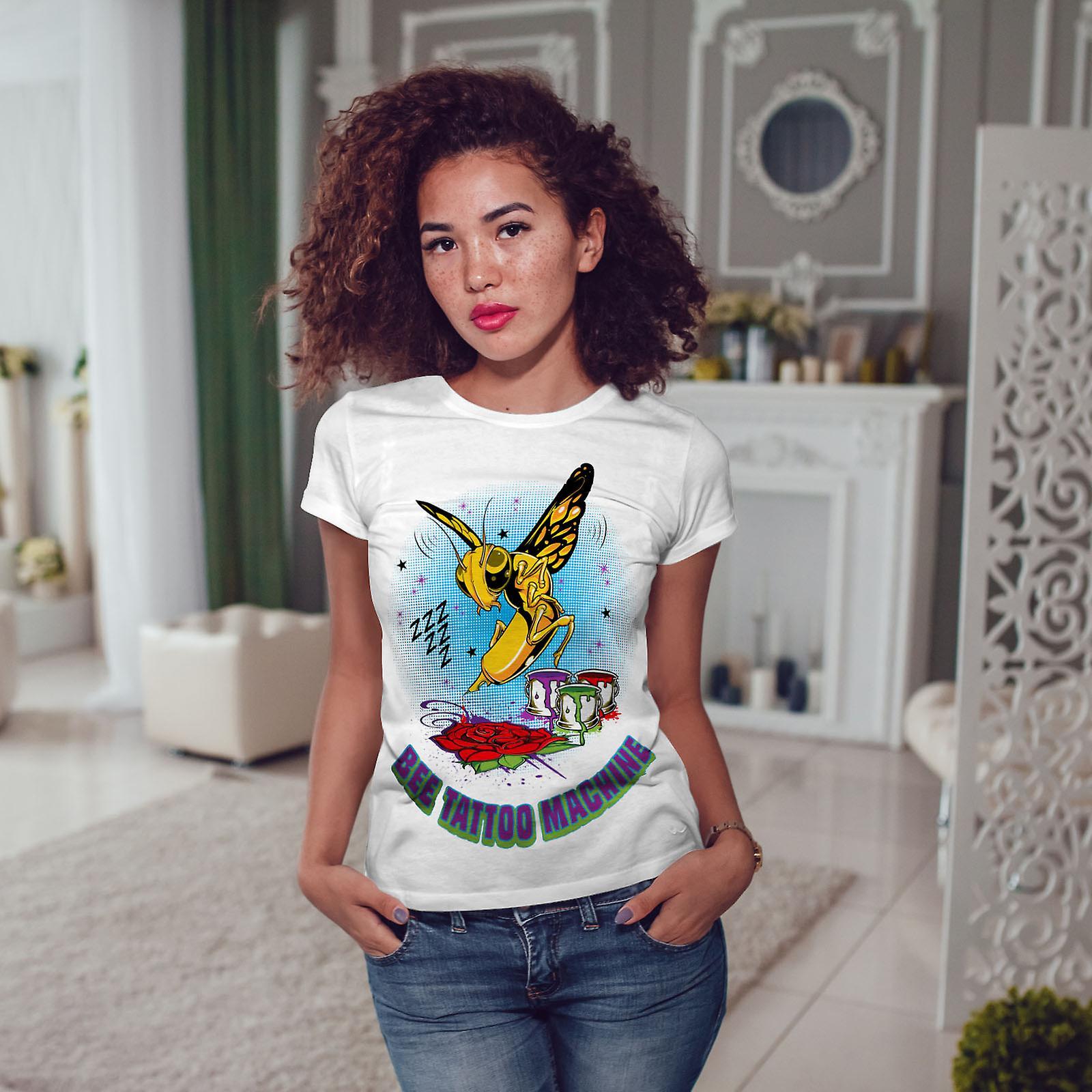 WhiteT-shirt d'abeille Bug tatouage Fashion femme   Wellcoda