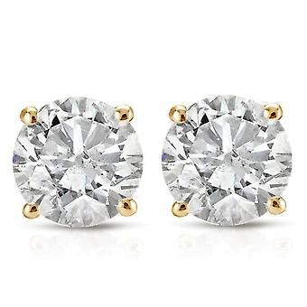 1 1 / 5CT Diamant Ohrstecker 14K weiß oder Gelb Gold