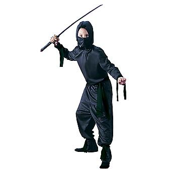 Stealth Ninja Black Warrior Japanese Martial Arts Book Week Boys Costume
