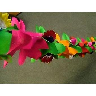 Decoration 'Flower' With Honeycomb Assorted Colour Garland