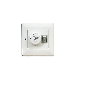 Wall control / wall switch for ceiling fans with light - surface-mounted