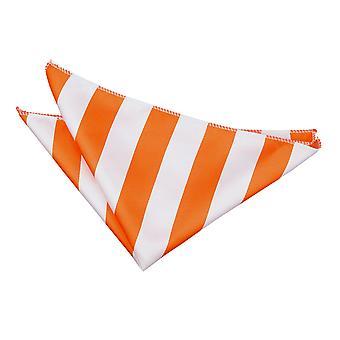 Orange et blanc rayé mouchoir de poche