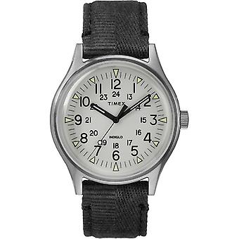 Timex heren horloge MK1 staal 40 mm stof armband TW2R68300