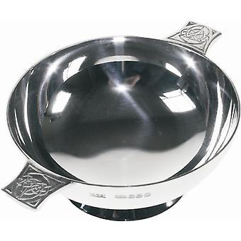 """Keltische Hallmarked Silber Quaich - 3"""""""