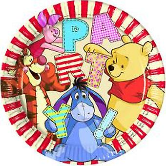 Winnie the Pooh Winnie the Pooh party plates Ø 23 cm 8 piece children birthday theme party