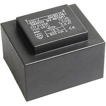 PCB mount transformer 1 x 230 V 1 x 24 V AC 10 VA 416 mA PT482401 Gerth