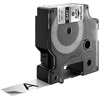Etikettering tape DYMO IND RHINO 18762 Polyester Tape kleur: Metallic lettertype kleur: zwart 19 mm 5.5 m