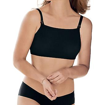 Anita 0601-001 Care Black Solid Colour Strapless Crop Top