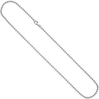 Kugelkette silber Halskette Kette 925/-S 2,5 mm Kette silber 90 cm