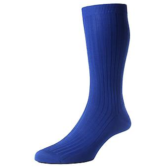 Pantherella Danvers Rib Cotton Lisle Socks - Ultra Marine