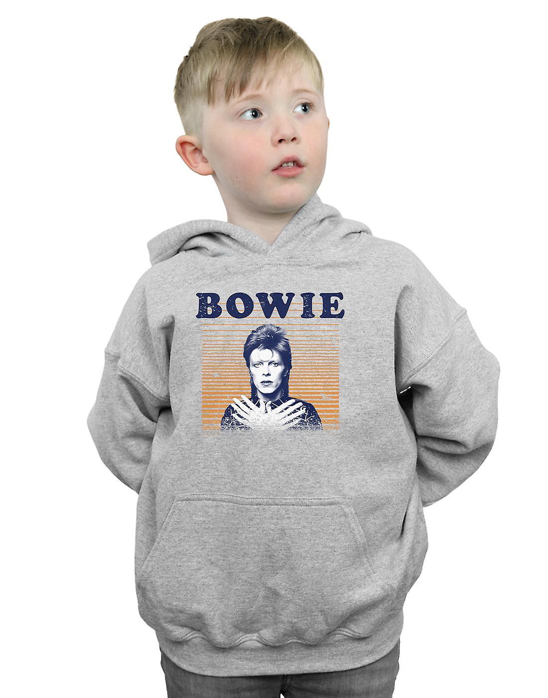 David Bowie Boys Orange Stripes Hoodie