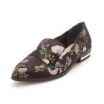 Bar III Womens Involve2 Velvet Almond Toe Loafers
