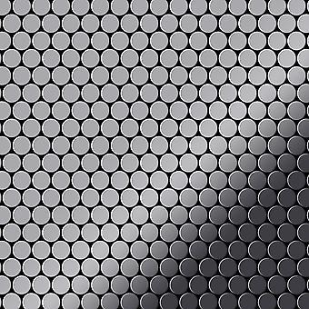Metall mosaikk rustfritt stål LEGERING Penny-S-S-MM