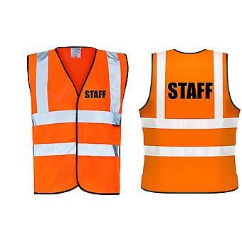 Hi Viz Vis Orange gilets personnel