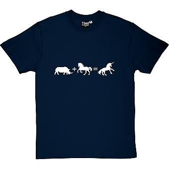 Rhino + Pferd = Einhorn Herren T-Shirt