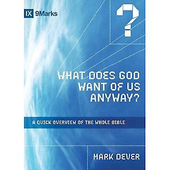Que Dieu veut de nous quand même?: un aperçu rapide de la Bible entière (série IXMarks)